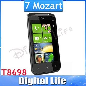 7 Mozart Original Brand HTC 7 Mozart T8698 Unlocked Phone 3G WIFI GPS 8MP Camera Windows Phone 7 OS