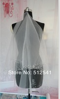 V-1 Lovely Tulle One-Layer Beadeds Wedding Dress Veils