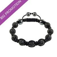 2014 Lose Money Promotion Shamballa Jewelry Wholesale New Crystal Shamballa Bracelets Micro Pave CZ Disco Ball Bead Bracelet