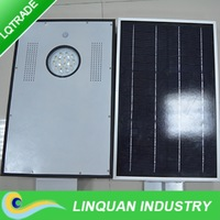 15W integrated solar street garden light/LED Lamp with sensor