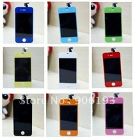 Color LCD For iPhone 4G 4S Digitizer Color LCD display touch Screen Back Cover Housing replacement parts free shipping