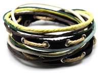 Wholesale Uniqe Designs Handmade Genuine leather bracelets Adjustable bracelet D0326