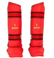 KangRui PU EVA Thai Boxing Taekwondo Leggings Calf Lower Leg Shin Instep protect protector training MMA Muaythai