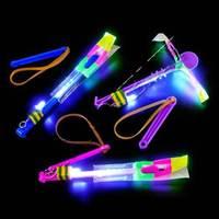 New Arrival Novelty Toy LED Amazing arrow helicopter Flying Umbrella Kids toys #1811