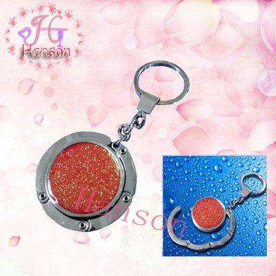Zinc alloy foldable purse hook with key chain(China (Mainland))