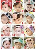 PROM baby kids fashion headband toddler beautiful silk flower headband bows Hair Accessories free shipping