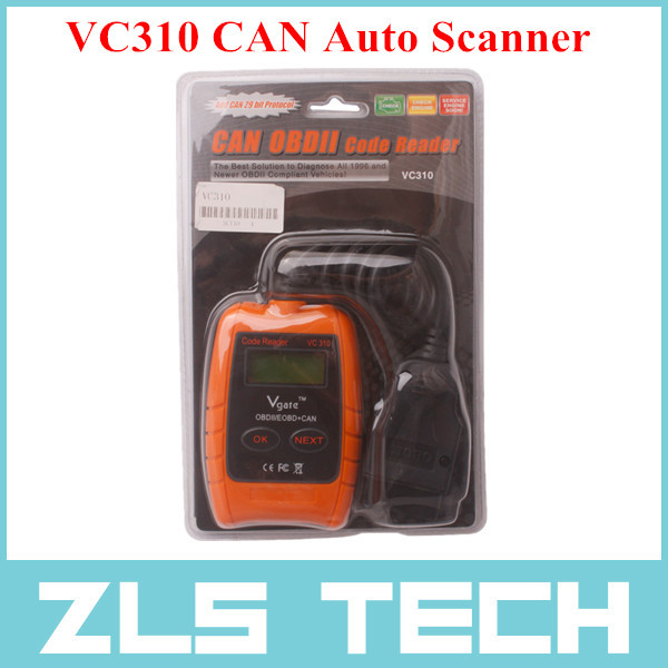 VC310 OBD2 OBDII EOBD CAN Auto Scanner Code Reader & Cleaner Car Diagnostic Tool of Top Quality Free Shipping(China (Mainland))