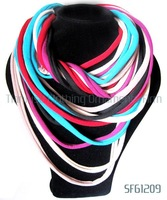 Min Order is $20(Mixed Order),SF61209. 125cm, Colorful Rope Conected New Arrival Long Women Scarves