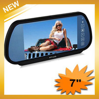 Free Shipping  + 7'' TFT LCD Color Screen Car Monitor rearview Mirror camera