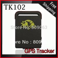 Free Shipping TK102 GPS Tracker - Smallest Mini Quad Band GPS Tracker Support TF Card