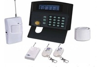 Free shipping G50B GSM Home Alarm System with LCD display and control keyboard on the mainframe,GSM 850/900/1800/1900MHz