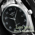 Fashion Winner Watch  Date Men Mechanical Auto Watches Black Dial Stell wristwatches