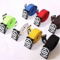 Retail Solid Color Unisex Fashion Canvas Sport Casual Woven Waist Belt