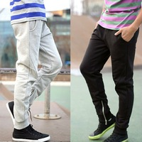 2012 NEW Korean style Men's Casual Pants Rope Training Jogging Pant Sport Trousers Black / Grey M/L/XL Free Shipping  K24