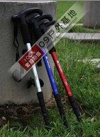 Free shipping  Abd alpenstocks type T alpenstocks / cane outdoor mountaineering stick four section telescopic rod wholesale
