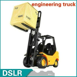 Free Shipping RADIO REMOTE CONTROL MINI ENGINEERING DESKTOP FORKLIFT TRUCK 6 channels RC toys kits NEW(China (Mainland))