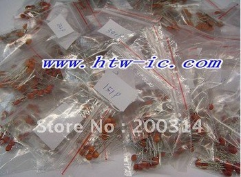 980pcs,  49 values Ceramic Capacitor Assortment Kit   & Free Shipping