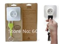EMS Free Shipping  100pcs/lot EU Plug Unplug Keyring Unplug Keychain