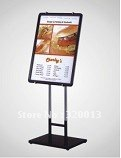 indoor aluminum frame movable and adjustable poster  stand
