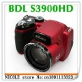 Free Shipping Mini DSLR cheap digital camera S3900HD 16.0MP CMOS 21x optical zoom 5x digital zoom Telephoto Digital Camera(China (Mainland))