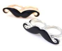 Free shipping Avanti beard two fingers rings , wholesale and retail , mini. order 15USD (mixed order)