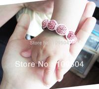 Free Shipping Baby Shamballa Bracelet Charm Bracelets Disco Ball Beads 1 PC