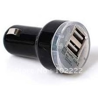 Dual 2 Port USB Car Charger for iPod iPad iPhone 5 5G 4S 4S 3GS, 2100mA, 1000pcs/lot , Fedex Free Shipping