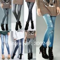 SKINNY JEAN LOOK FREE SHIPPING+Wholesale 9-263 2013 New Korean thin cotton Flexible Leggings pencil pants Many Colors  C13483SL