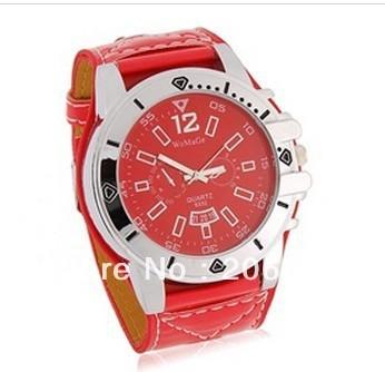 Fashion WaMaGe 9332 Strap Men Boys' Watch (Green.red.white.brown) men's watch. women's watch+free shipping