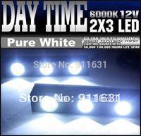 Free Shipping White 2pcs/lot  3 Led 2 x 3W High Power Eagle Eye Daytime Running Lights Driving Light 12V