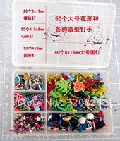 Free shipping 210pcs mix Brads colorful DIY material scrapbooking embellishments craft nail metal brad