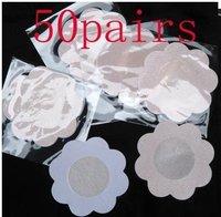 Free Shipping  50 Pairs Satin Pasties Breast Nipple Petal Cover New