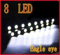 White 8LED 8W 12V 170mm x 15mm x 18mm  Tiny Daytime Running Light Eagle Eye Driving DRL Fog Lamp