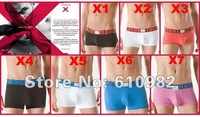FREE SHIPPING NEW 10pcs High quality brands Men's Underwear / Boxer shorts X Color edge Underwear Mixed Order Wholesale
