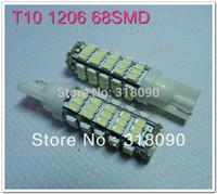 Super Bright!! 30x T10 194 168 1206 68 SMD 68 LED License Plate Light Rear Light DC 12V Clearance Light Turn Light
