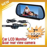 "Free Shipping by HKPAM by HKPAM +Wireless radio 7 ""Color Rear View System Rearview camera monitor"