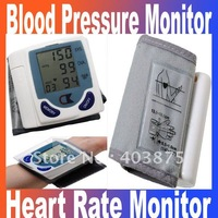 Promotion!!! 2014 New Automatic Digital Wrist Blood Pressure Monitor & Heart Beat Meter Free shipping