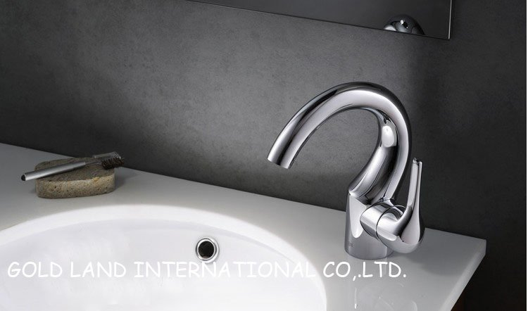 H168.6mm Free shipping GL-11001 modern basin lavatory faucet bathroom cold and hot faucet(China (Mainland))