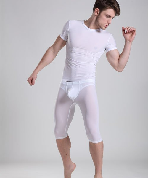 Manview Sexy Men's see-thru Ultra-thin Bulge Pouch Underwear Pants