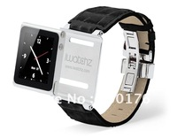 iwatchz Timepiece collection Leather Strap iwatchz clips for nano 6 + Free DHL shipping  100pcs/lot