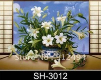 PET High-definition lenticular poster ( 6pcs/lot) with flower design by  popular size 25*35 cm