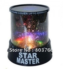 Free Shipping promotion The sky star constellation projector star master sound asleep LED lamp Christmas gift star master(China (Mainland))