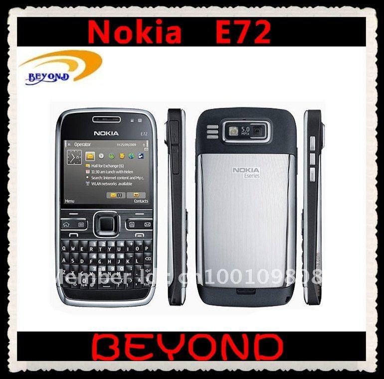 100% Original Nokia E72 unlocked 3G GSM mobile phone WIFI GPS QWERTY 5MP free shipping Refurbished(China (Mainland))