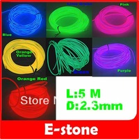 Free Shipping 5m Neoe Glow Light EL Wire Rope 110-220V 16ft 7 Different Colors to Choose