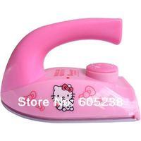 Free shipping 12pcs/lot Travel Iron the Smallest Clothes Iron in the world Hello Kitty mini Iron