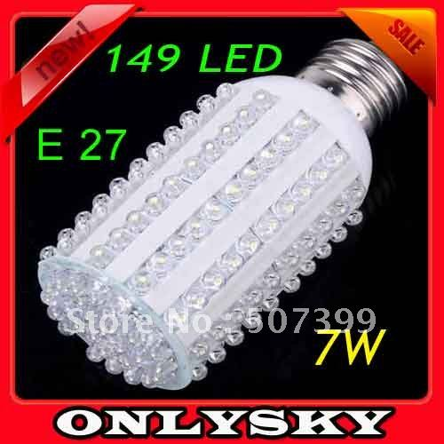 10pcs/lots led light Bright 9W E27 149LEDs/ Led Corn Light Bulb 110V-220V led bulb Cool white led lamp Free Shipping(Hong Kong)