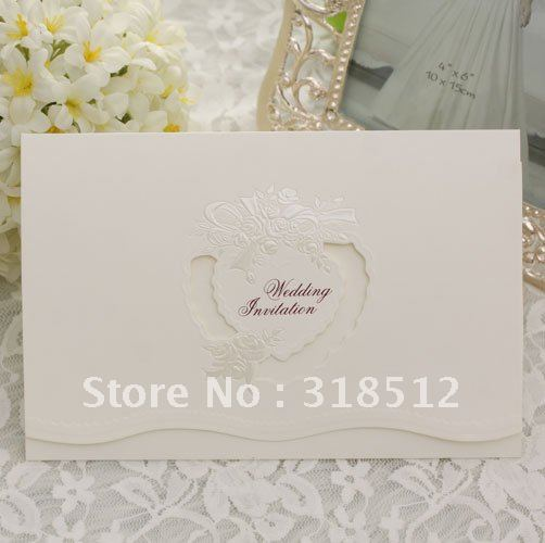 Luxurious Wedding Invitations , Wedding Gifts and Favor , Free wording Printing(China (Mainland))