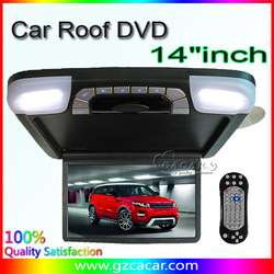 Hot selling 14.1 inch flip down car roof dvd player with DVD,USB,SD(China (Mainland))