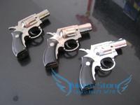 New 1pcs JL301 Small revolver Gun Lighter Butance Gas Pistol Lighter Windproof Lighter attractive design Gift