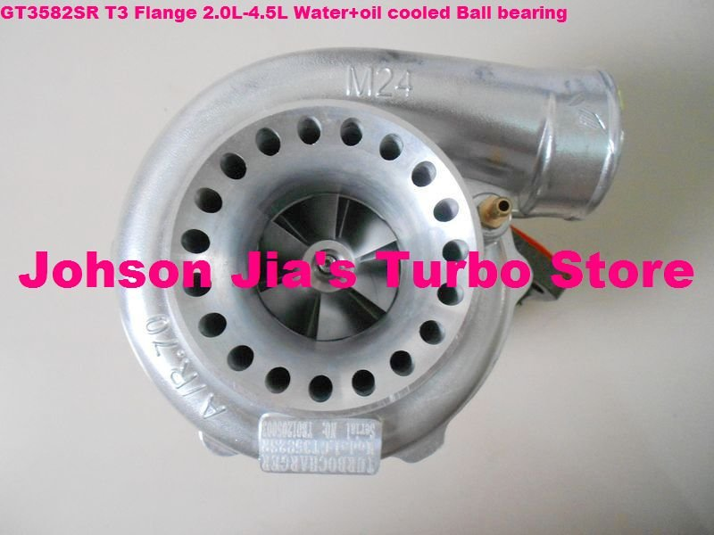 GT3582SR Turbocharger for Vehicle tuning/modifying,Fit to Enigne:2.0L-4.5L,400-600HP(Water cooled,Ball bearing Square Flange)(China (Mainland))